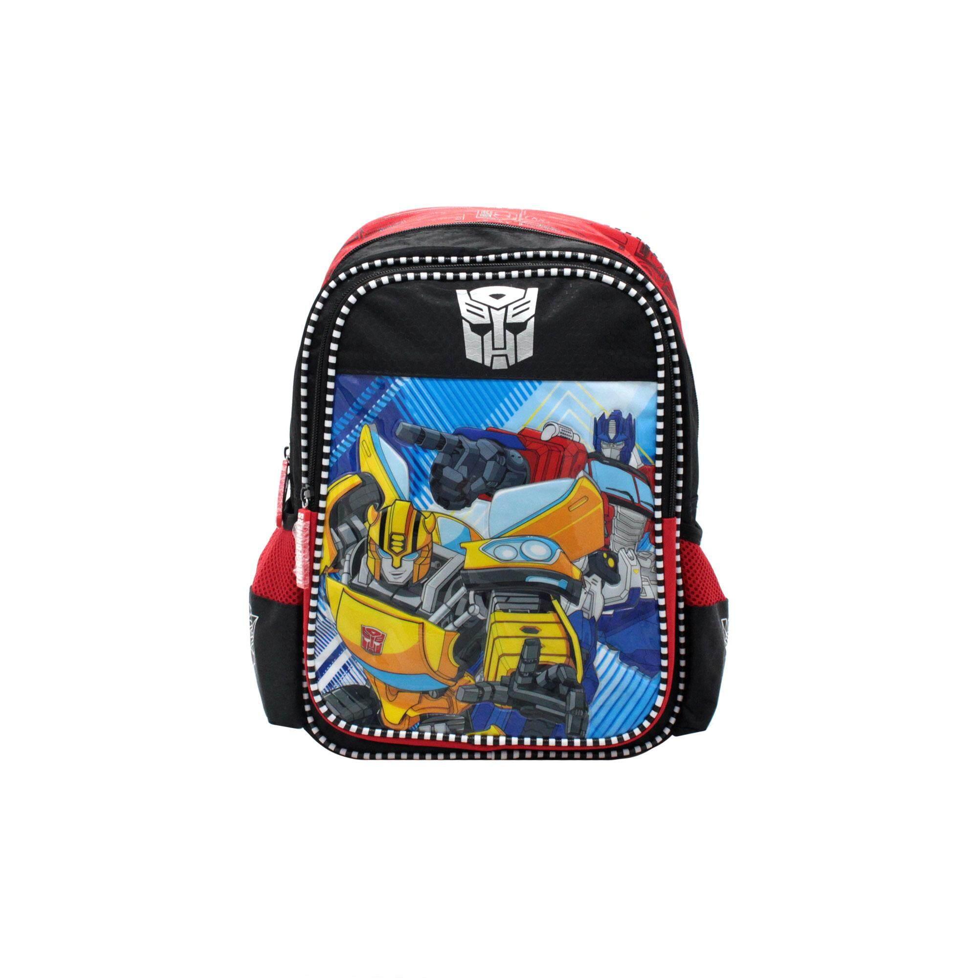 Transformers Bumblebee & Optimus Prime Pre School Bag - Red Colour