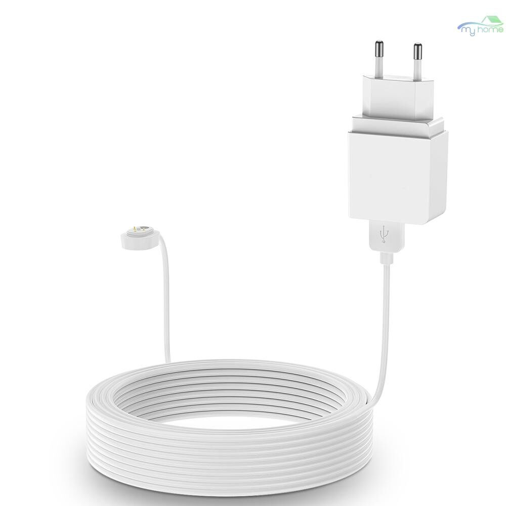 Monitors - Power Cord for Arlo ULTRA 4K UHD Magnetic Chanrging Cable Waterproof Charger With EU Plug for - WHITE-9M / WHITE-6M
