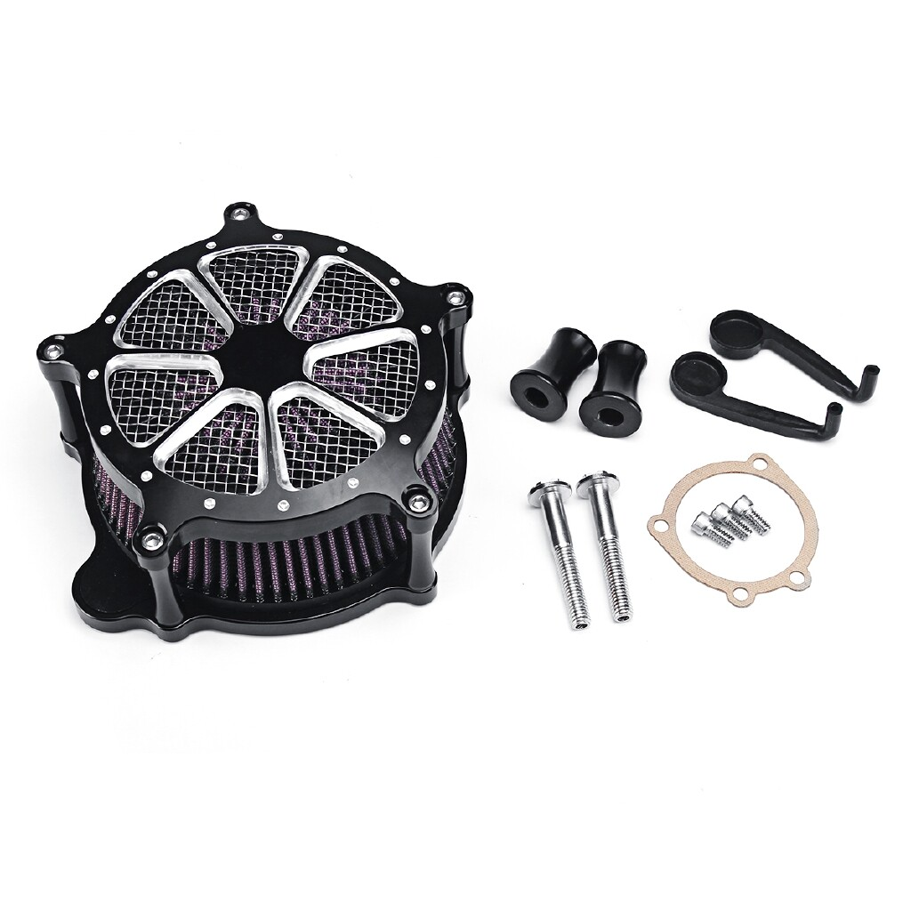 Car Lights - CNC Air Cleaner Intake Filter System For Harley Softail Touring Dyna Models mhestore2009 - Replacement Parts
