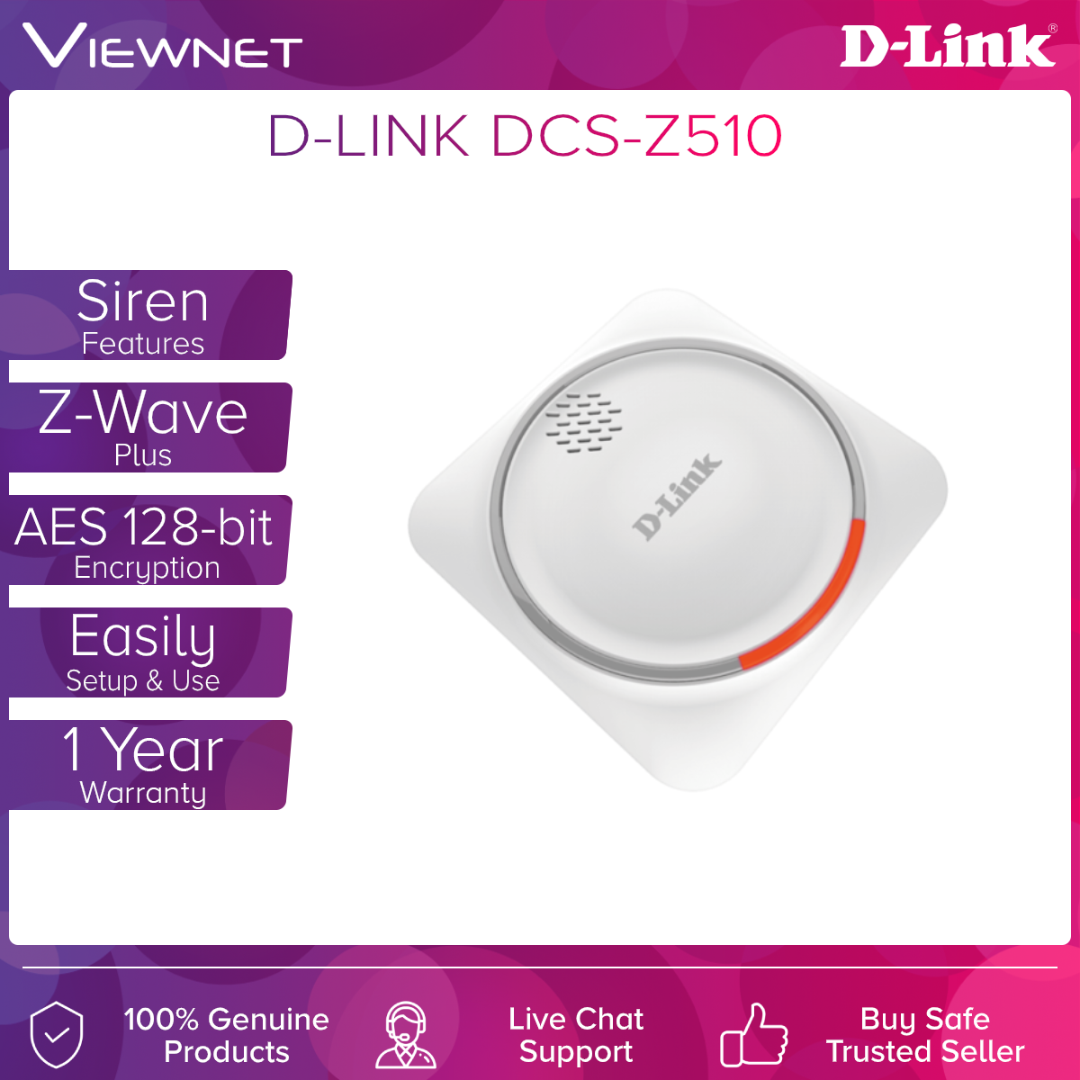D-Link DCH‑Z510 mydlink™ Z-Wave Siren