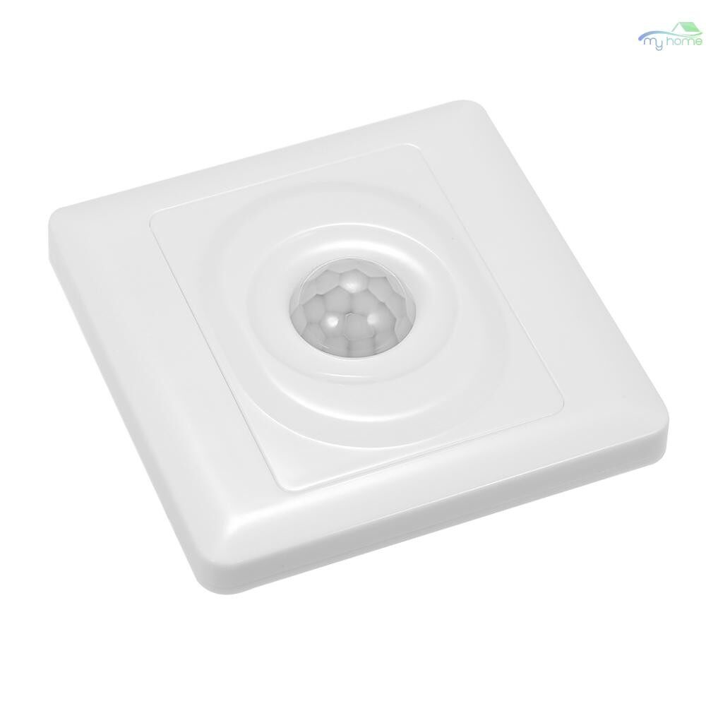 Sensors & Alarms - Wall Mounted Automatic IR Infrared Motion Sensor ON/OFF Switch Wired PIR Movement Detector Light - WHITE