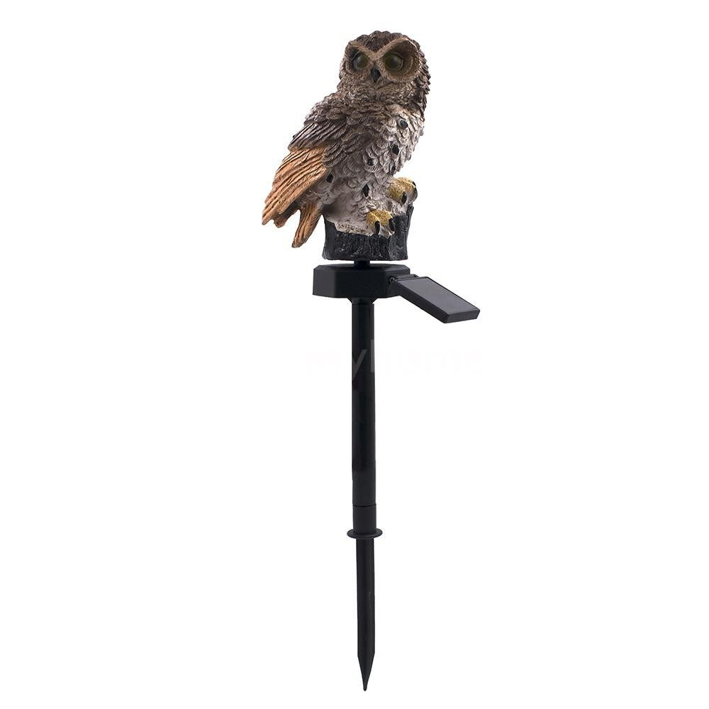 Outdoor Lighting - 2v 0.07w Owl Design Solar Power Energy LED Lawn Lamp Outdoor Light IP65 Water Resistance Built-in