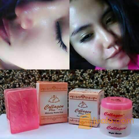 Collagen Plus Vit E Day Cream, Night Cream, Soap Full Set (Original Seal)