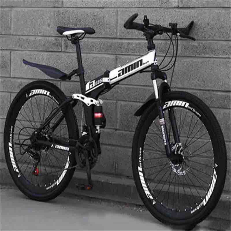 Foldable Mountain Bike, Disk Break, 21 Speed Gear & Mono Shock Absorber Self Installation Bicycle [ADlDAS SPORTS  MTB]