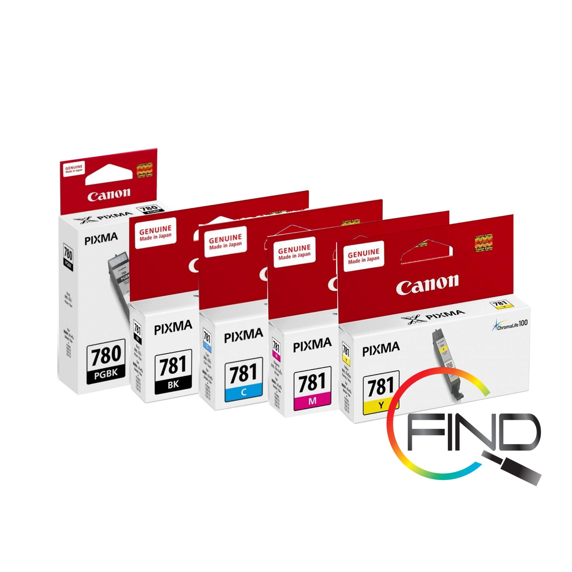 CANON PGI-780 & CLI-781 NORMAL SET CARTRIDGE (PGI-780+CLI781BK+C+M+Y) for TS707, TS6370/TS9570, TR8570 Printer