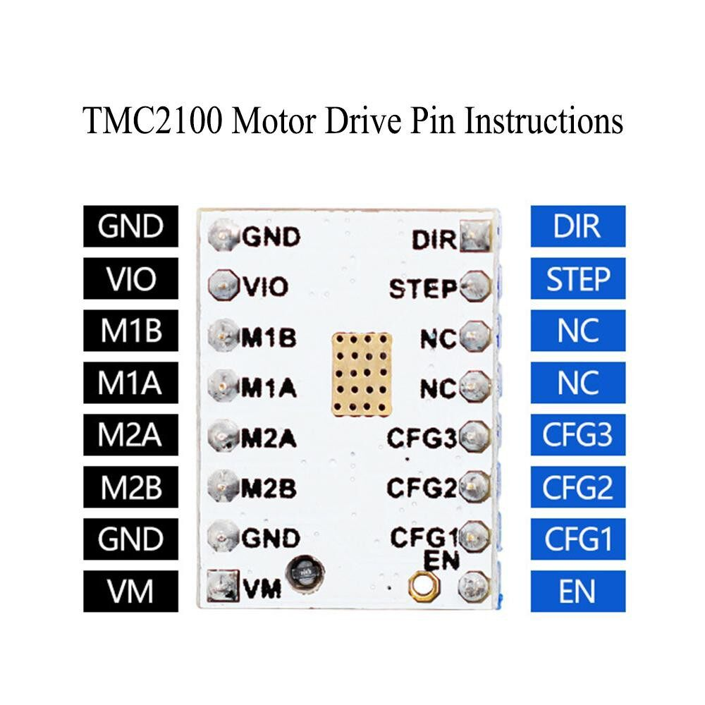 Printers & Projectors - TMC2100 V1.3 Stepper Motor Driver Super Silence Module with Driver Smoother Heat Sink Screwdriver - #