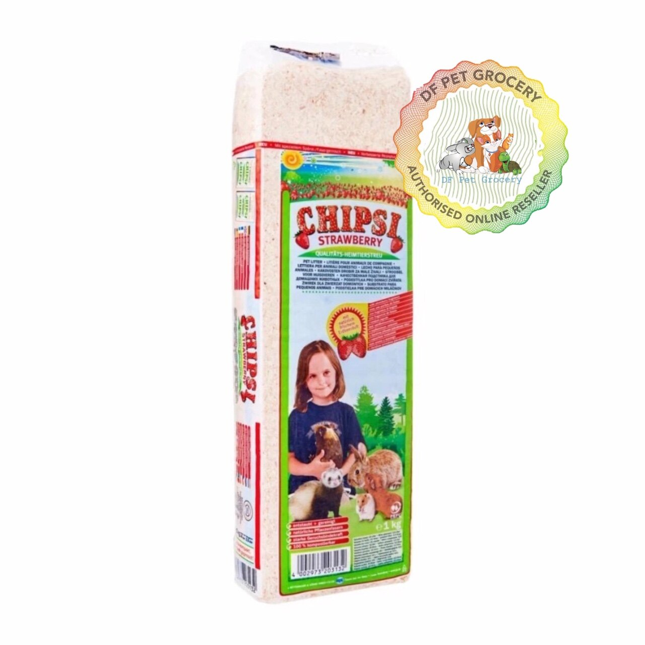 CHIPSI STRAWBERRY HAMSTER BEDDING 1KG - 15L 1000S