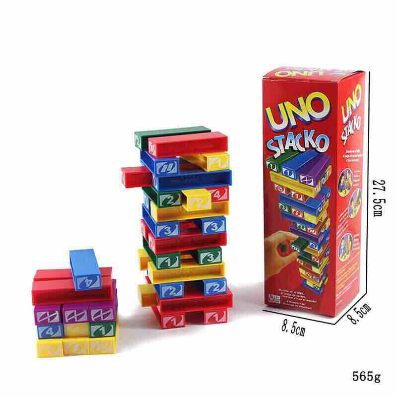 Preferred UNO Stacko Color Blocks Games Jenga Toys Family Game