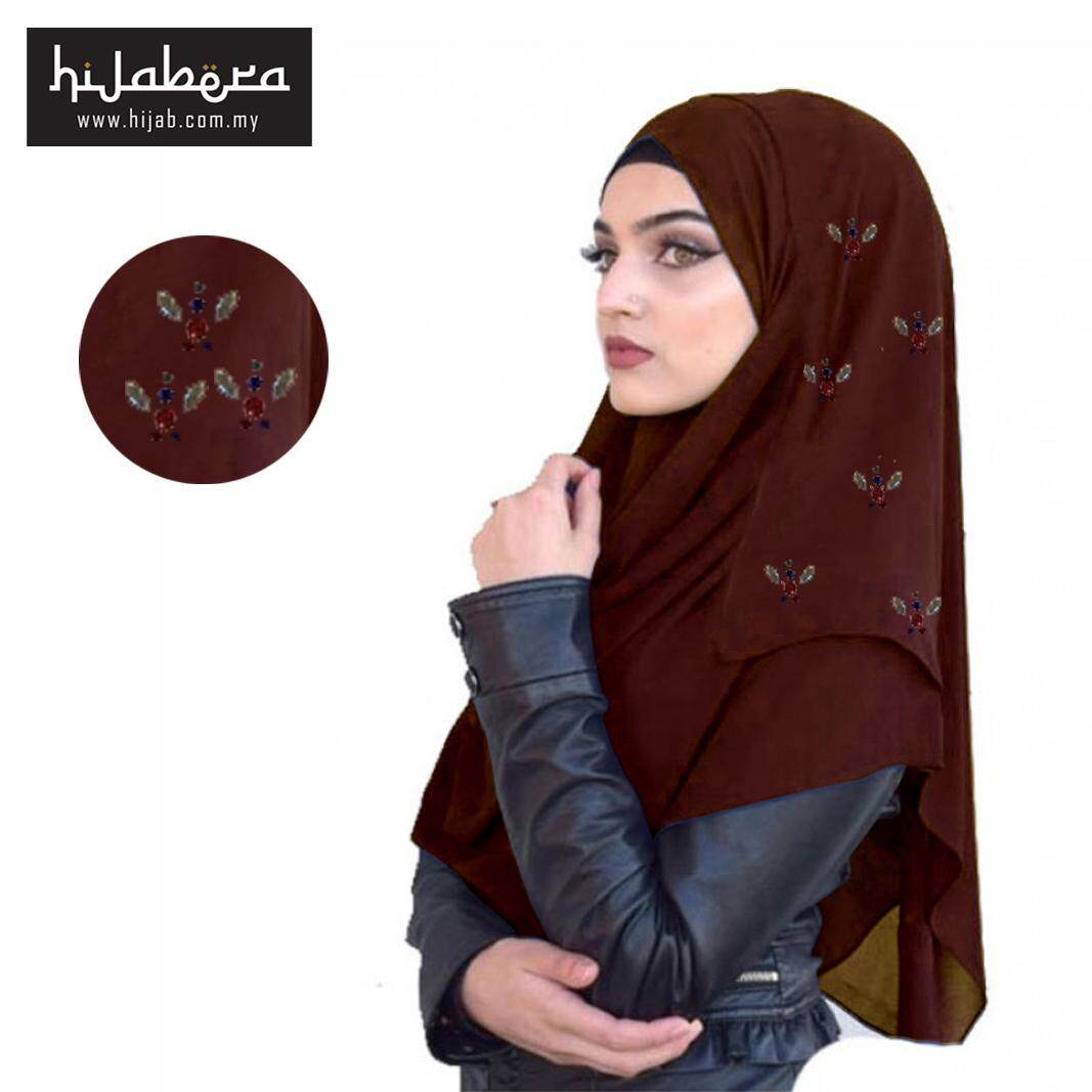 Instant Chiffon Shawl -Glaze-Dark Brown