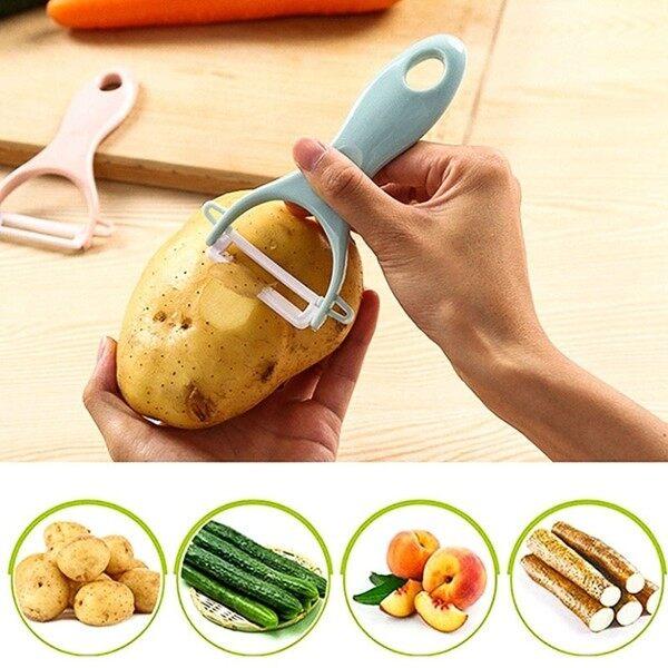 Ceramic peeler kitchen planer peeler peeling apple scrape [Local]