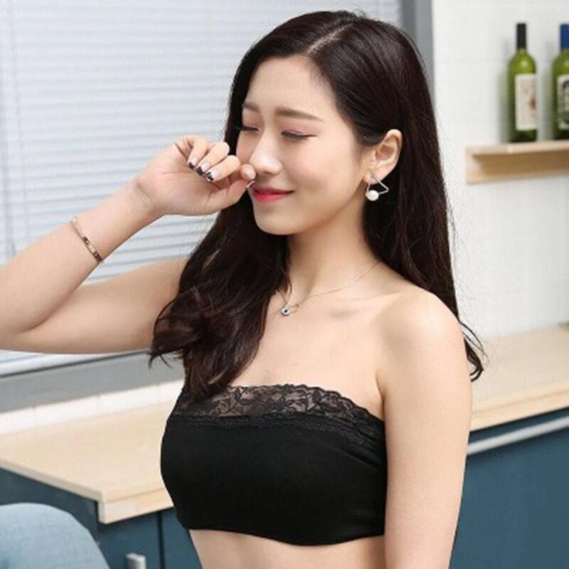 [Ready Stock] Tube Bra Stretchable Soft Comfortable Women Breathable Strapless Seamless Bra Underwear Free Size