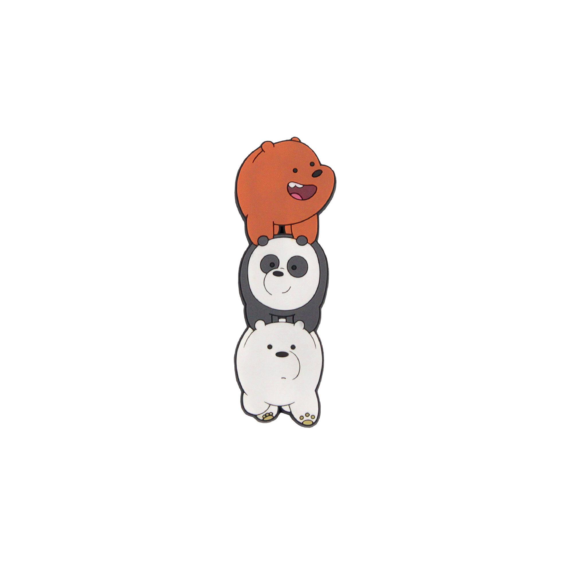 We Bare Bears Grizz, Ice Bear & Panda -Pvc Magnet