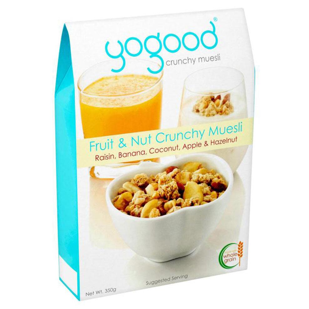 CEREAL Yogood Fruit & Nut Crunchy Muesli Raisin, Banana, Coconut, Apple & Hazelnut (350g) EURO SNACKS