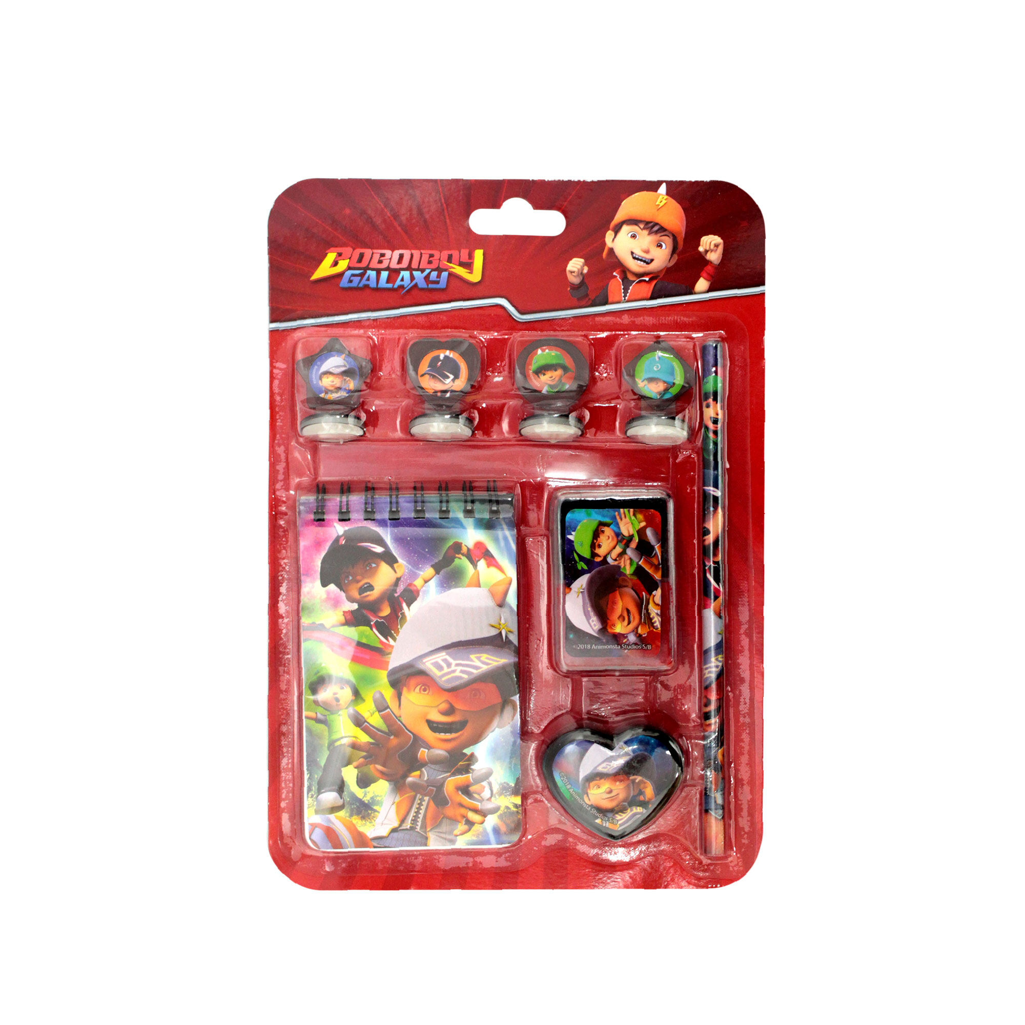Boboiboy 8pcs Stamper Set -  Red Colour