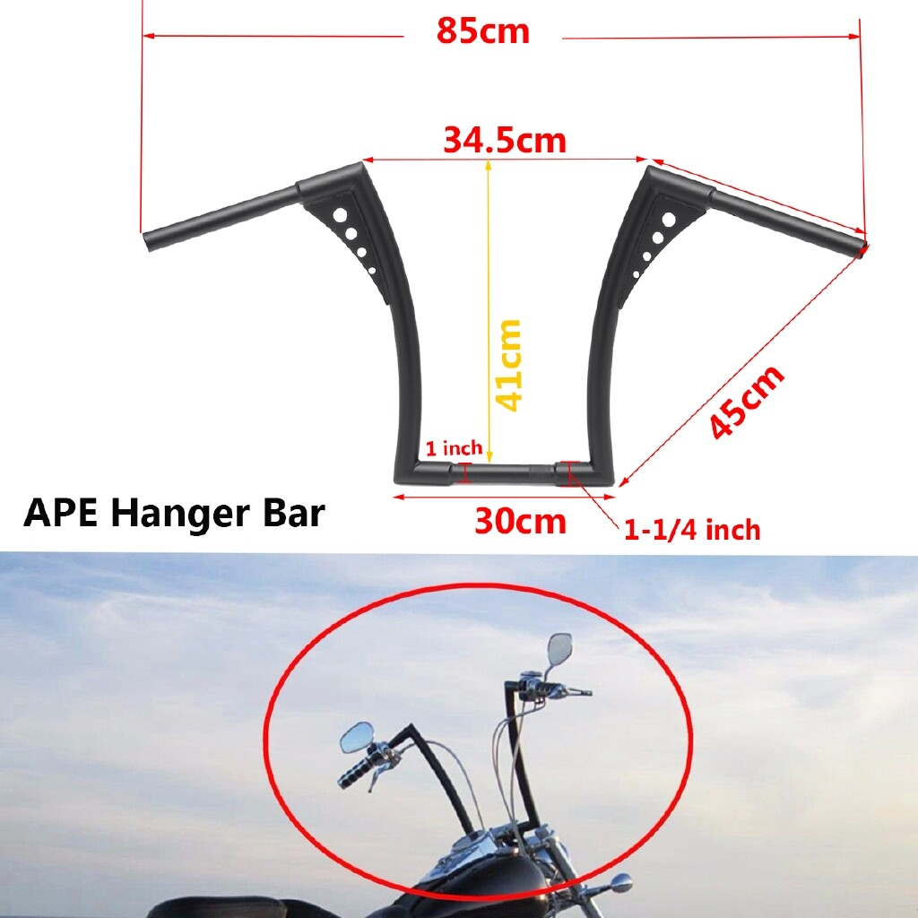 Moto Accessories - 1-1/4 14 RISE BLACK APE HANDLEBARS HANGERS 1 BAR FOR HARLEY FXST SPORTSTER XL - Motorcycles, Parts