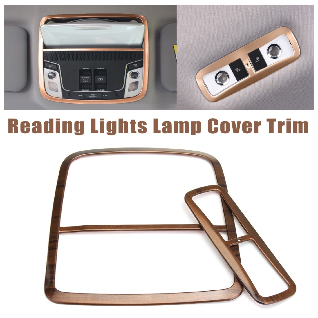Car Lights - for Honda CRV 2017-18 Peach Wood Grain Front Rear Reading Lights Lamp Cover Trim - Replacement Parts
