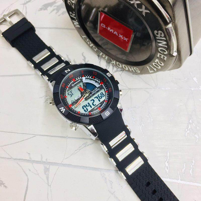 Special Promotion Sport G-MAXX GASIQ Dual Time Display Fashion Casual Watch For Men Ready Stock 100% Mineral Glass New Design