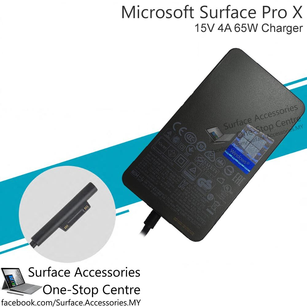 [MALAYSIA] Microsoft Surface Pro X 65W 15V 4A Charger [MODEL 1876] Microsoft Surface Pro 7 65W Adapter Microsoft Surface Pro 7 65W Charger Microsoft Surface Pro X Charger Adapter Microsoft 65W Adapter Microsoft 15V 4A Adapter for ARM Processor Surface X