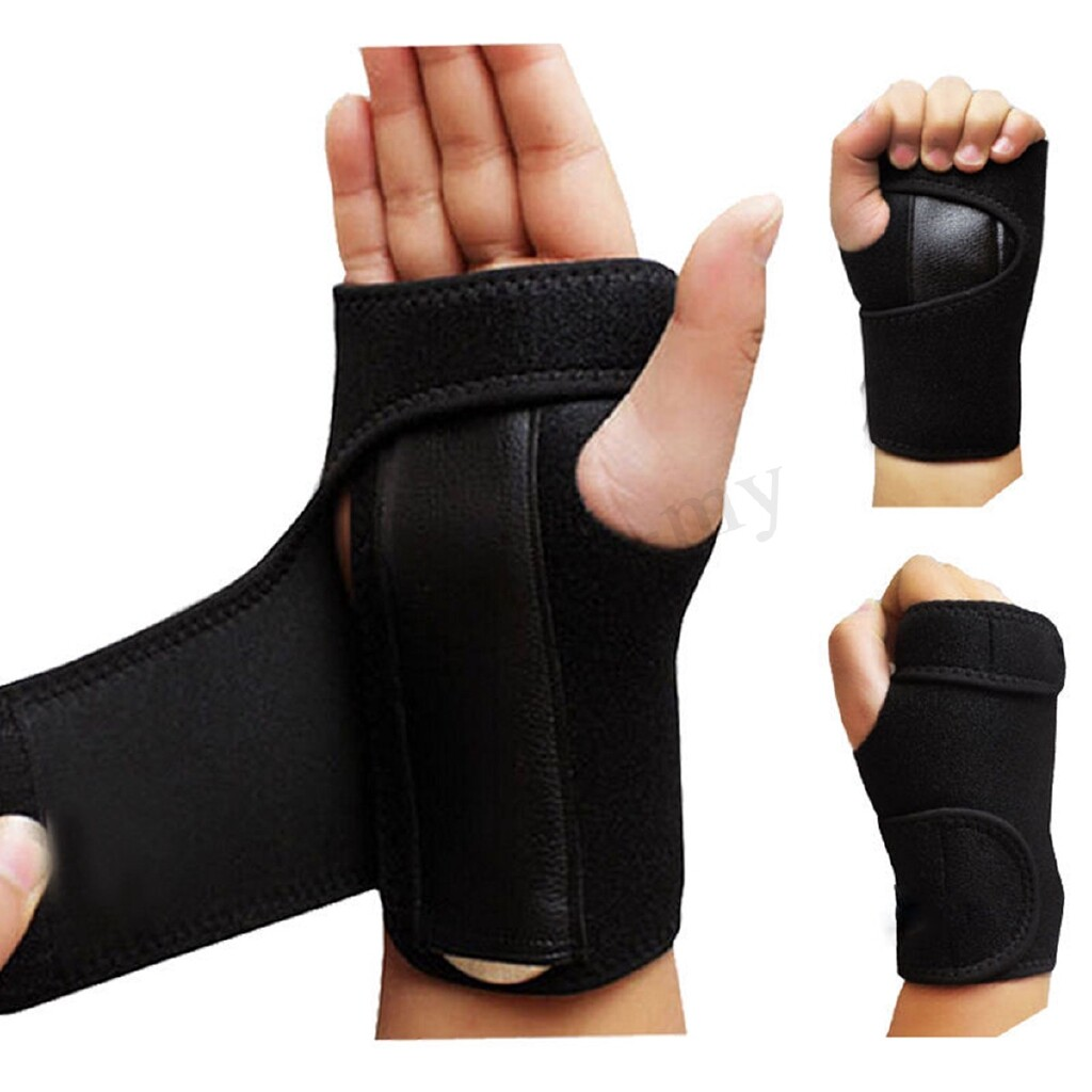 Moto Accessories - Black gloves Sprains Hand Brace Support Carpal Tunnel Splint Arthritis Wrap - RIGHT HAND / LEFT HAND