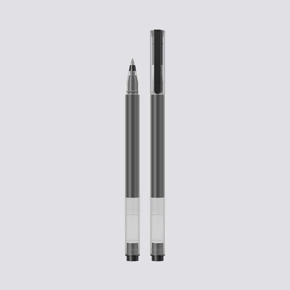 Best Selling 10 Pcs Xiaomi Gel Pen Black 0.5mm Refill Neutral Pen Smooth Writing Signature Pen Student Supplies Office Stationery (Black)