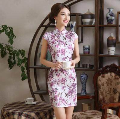 (Pre Order 14 DAYS)  JYS Fashion Women Cheongsam Collection 249-478B (Floral) S