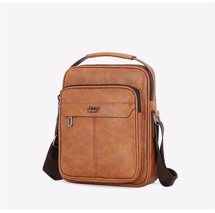 Hand Carry Jeep men's Shoulder Bag Crossbody Bag Leather Sling Bag Pouch #dm