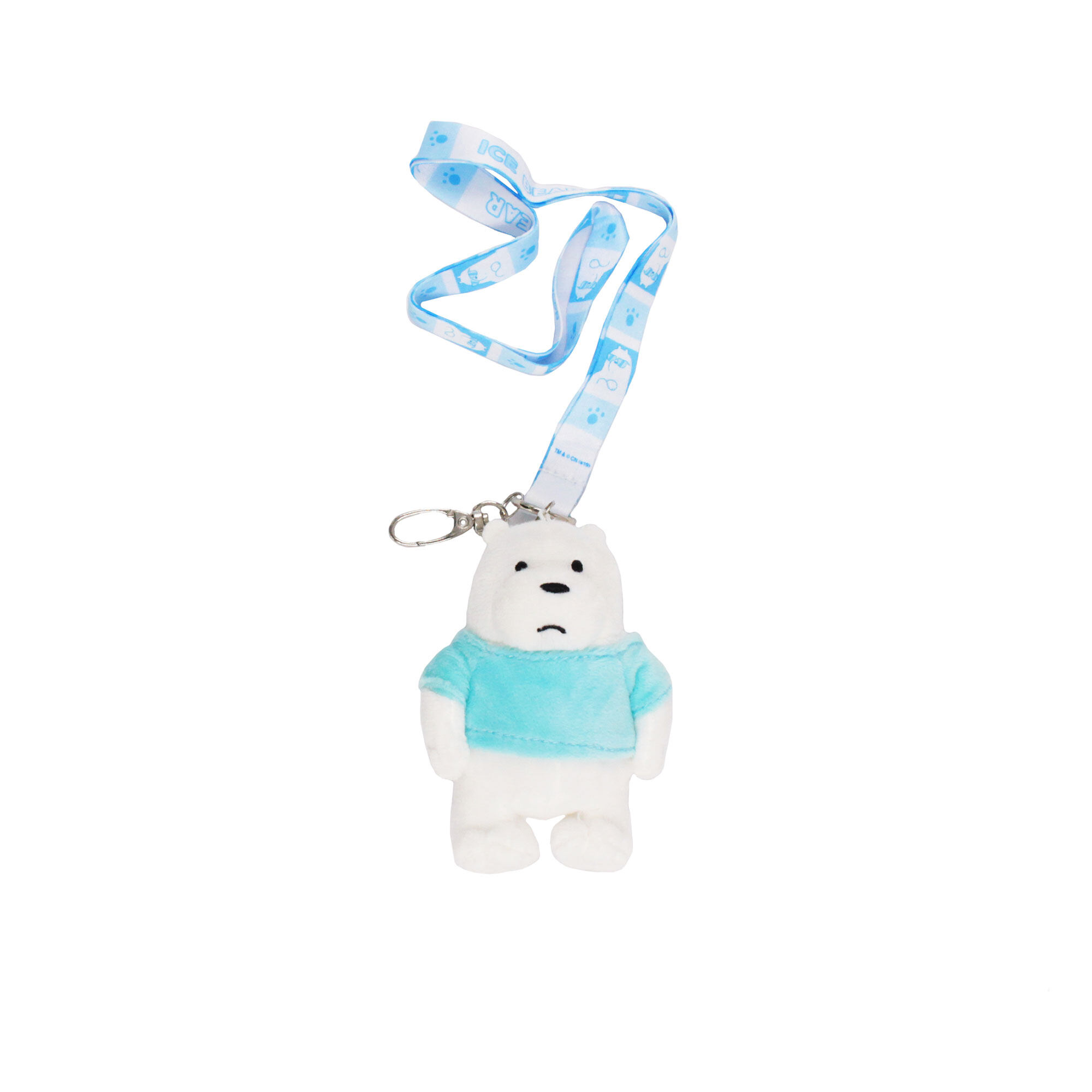 We Bare Bears Ice Bear Lanyard - White & Light Blue