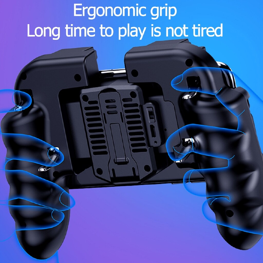 DIY Tools - H9 Mobile Phone Game Controller Joystick Cooling Fan Handle for PUBG Android IOS - Home Improvement