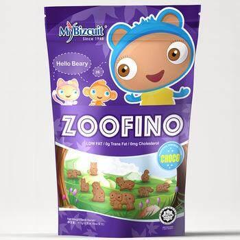 [FSC] Mybizcuit Zoofino Animals Choco Cookies 80gm