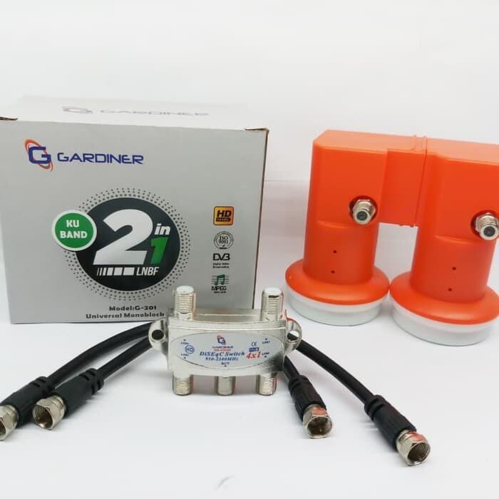 LNB Monoblock gardiner including diseq and jumper cables