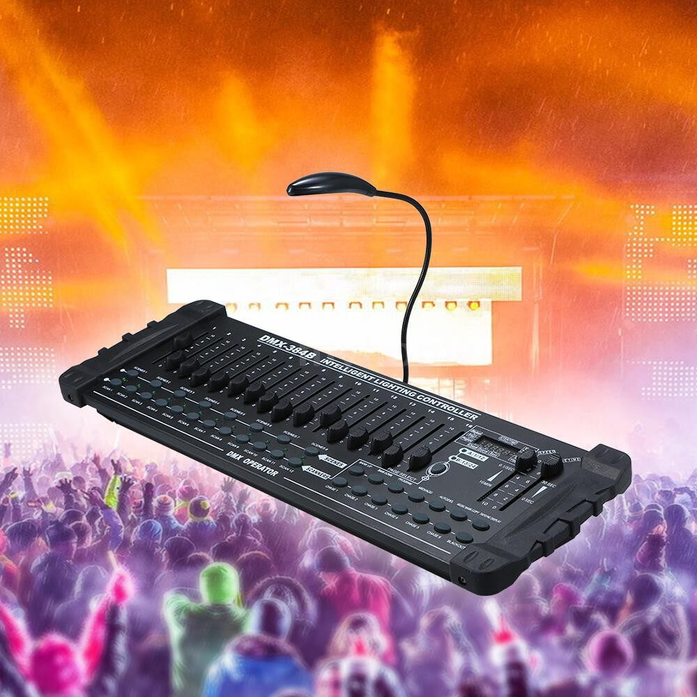 Lighting - AC110-240V MINI 384 Channels Controller Console Stage Lighting Operator Equipment Supported Manual - Home & Living