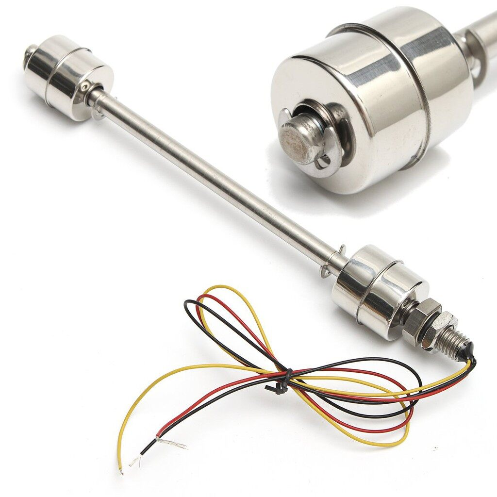 Tyres & Wheels - 200MM Liquid Float Switch Water Level Sensor 304 Stainless Steel Double Ball - Car Replacement Parts