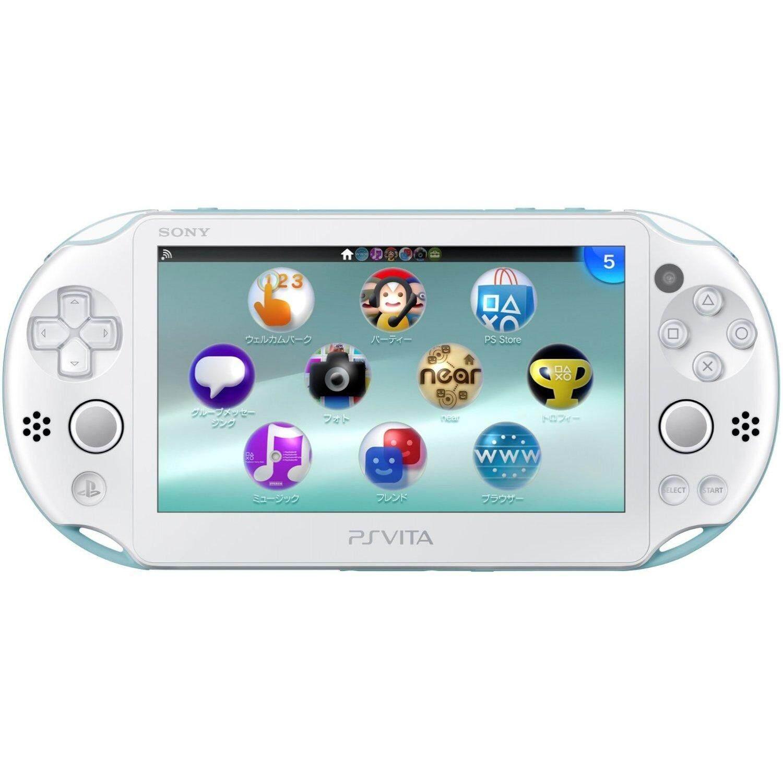 Sony PSVITA 2000 Mod(Include Game) Free 32 GB Memory Card + Accessories Full Set(LIGHT BLUE WHITE)