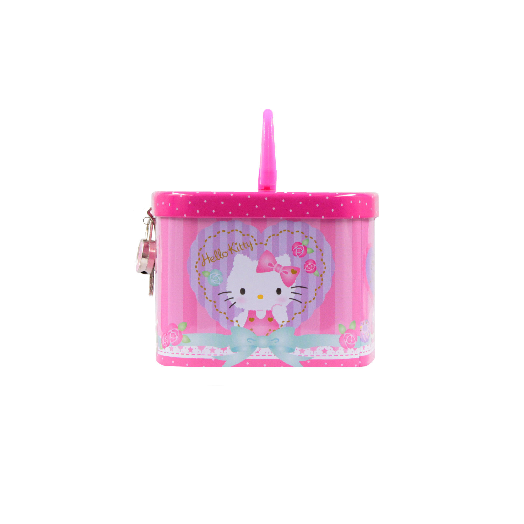 Sanrio Hello Kitty Children Coin Bank With Lock - Pink Colour