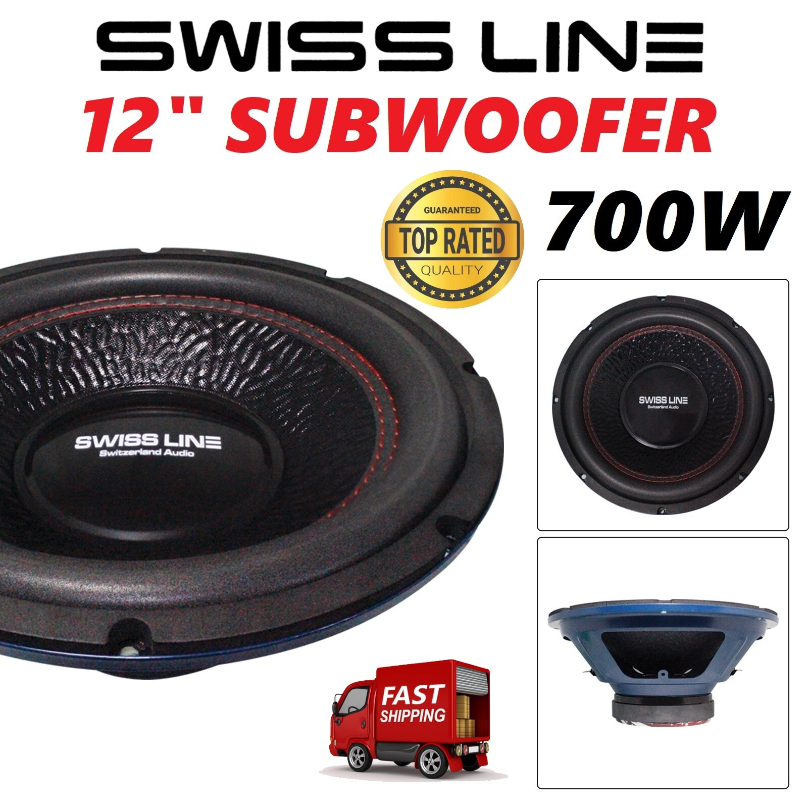 "Swiss Line 12"" Car Woofer 700Watts Subwoofer Speaker 122D4 ORIGINAL Suitable for all type of car Double Coil Single Magnet Car Woofer"