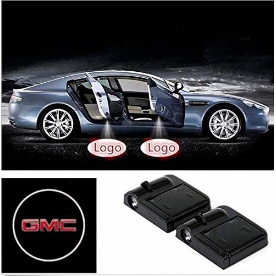 2 PIECE(s) WIRELESS LED Car Door Welcome Laser Projector Logo Light Ghost for GMC