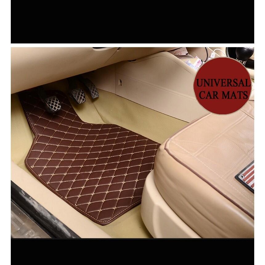 Floor Mats - 4 PIECE(s) Car Floor Mats Front & Rear Carpet Mat Waterproof For BMW Volvo Benz etc - BEIGE / BLACK-RED / WINE RED / BLACK-BEIGE / COFFEE