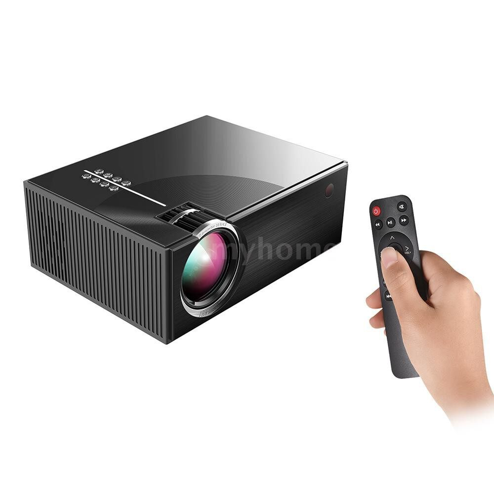 Printers & Projectors - PORTABLE LCD Projector Full HD LED Projector 1080P Supported 50000 Hours Lamps Life Support TV/ HD/ - Computer & Accessories