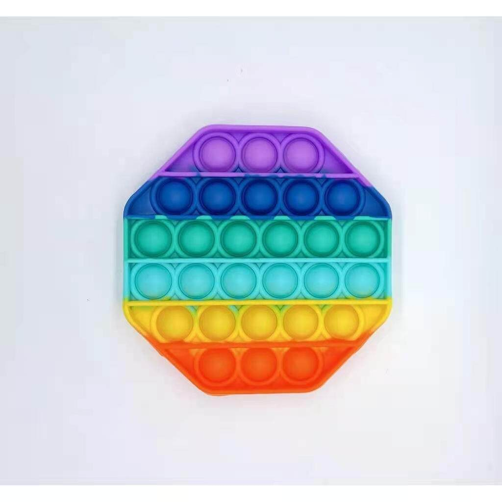 RssRainbow Push Pop It Bubble Sensory Fidget Toys, Squeeze Sensory Toy