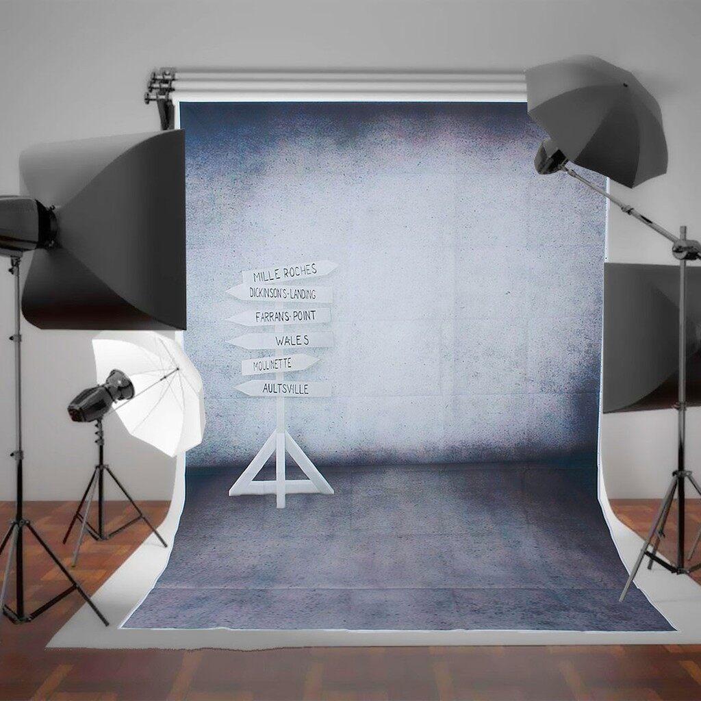 Lighting and Studio Equipment - 5x7ft White Leading Mark Vinyl Backdrop Photo Studio Photography Prop Background - Camera Accessories