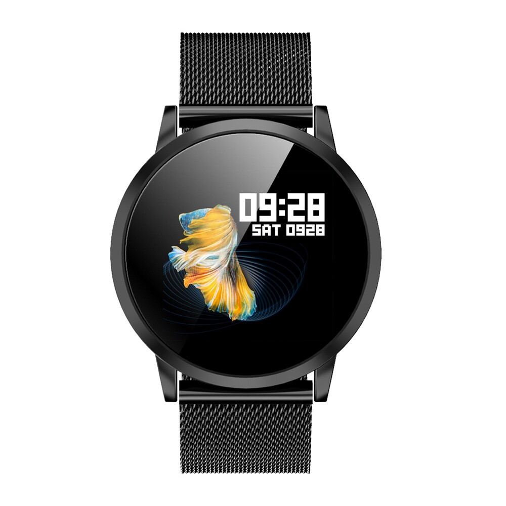 Smart Watch - DK05 Full Vision HD Color Screen Wristband ULTRA Thin Dial Business Style Multifunction - SILVER / BLACK