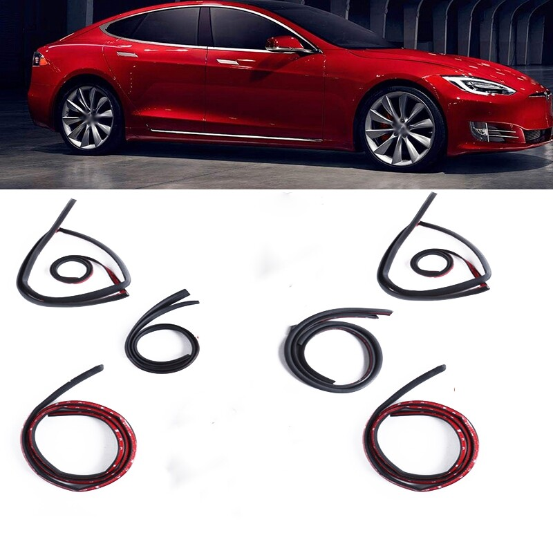 Automotive Tools & Equipment - 1 SET Door Seal Strip For Tesla MODEL 3/S/X Car Door Soundproof Sealing Strip Wind Noise Reduction - Car Replacement Parts
