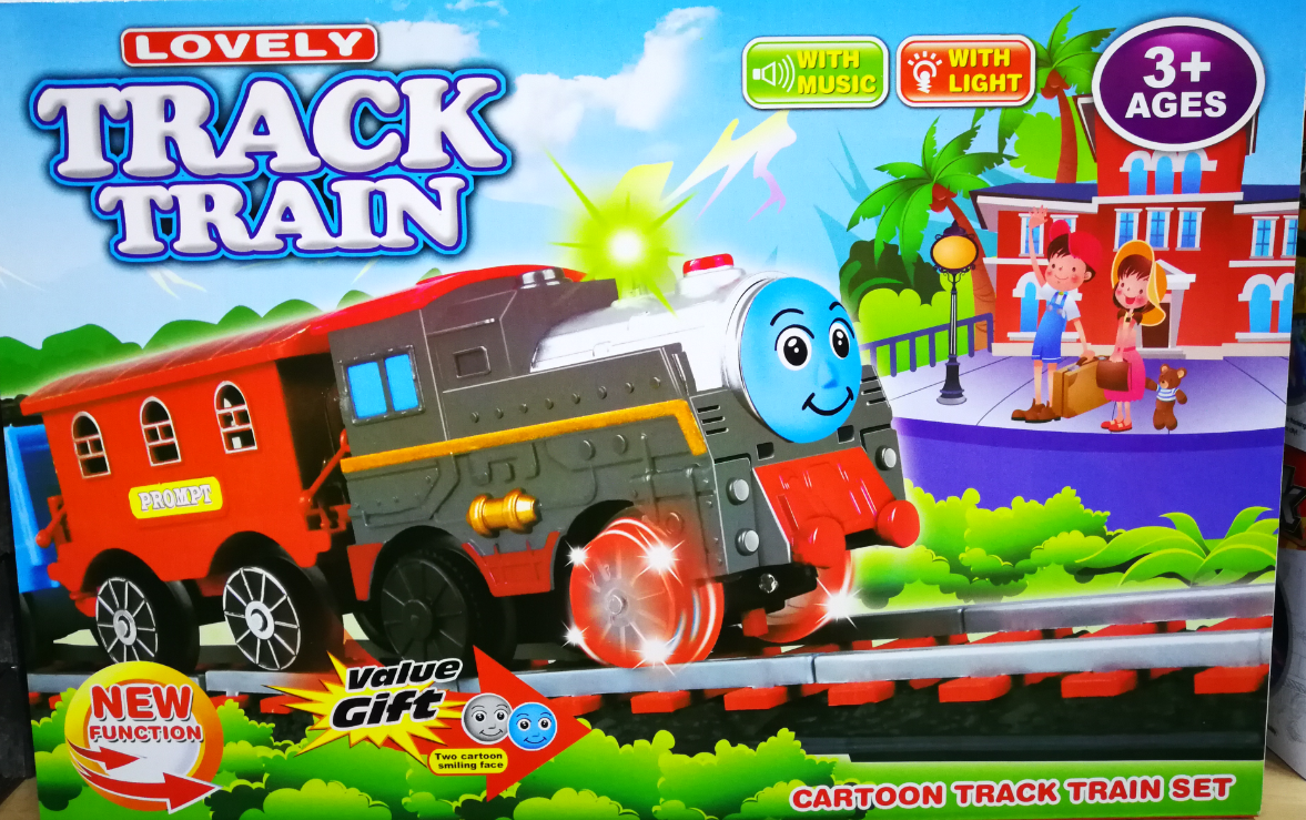 Kids Toy - Lovely Cartoon Train Track Toys Set For Kids
