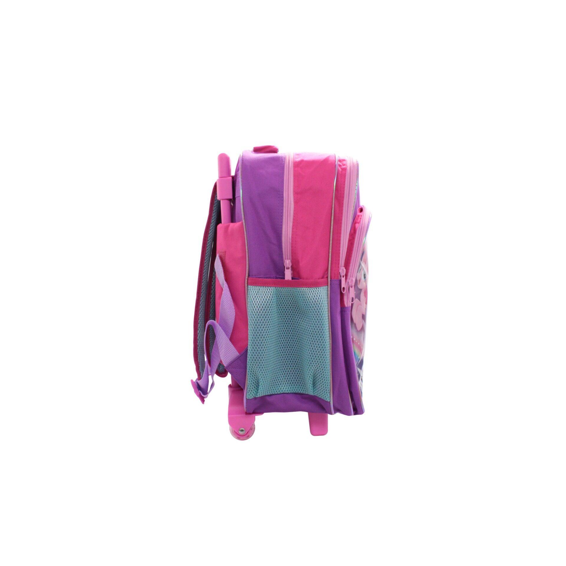 My Little Pony Twilight Sparkle & Friends Kids Girls Pre School Trolley Bag With 2 Wheels & Handle (Purple)