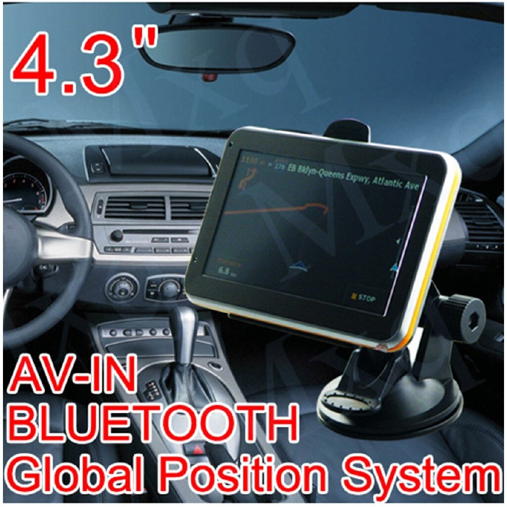 Car Multimedia Players - 4.3 Car Navigation Sat Nav + Rearview Camera+BLUETOOTH RAM AV-IN 4GB - Electronics