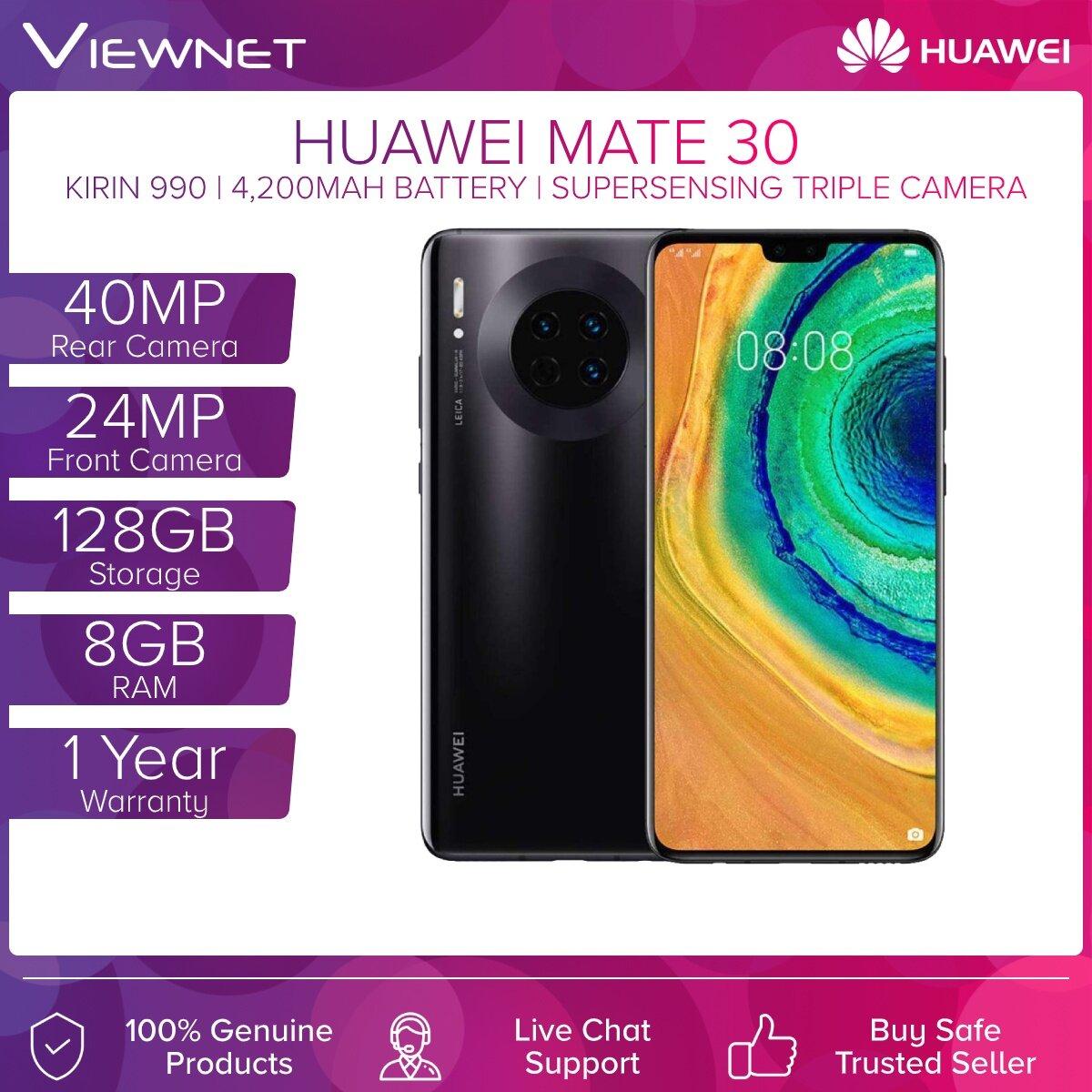 Huawei Mate 30 (8GB RAM + 128GB ROM) Black/Silver