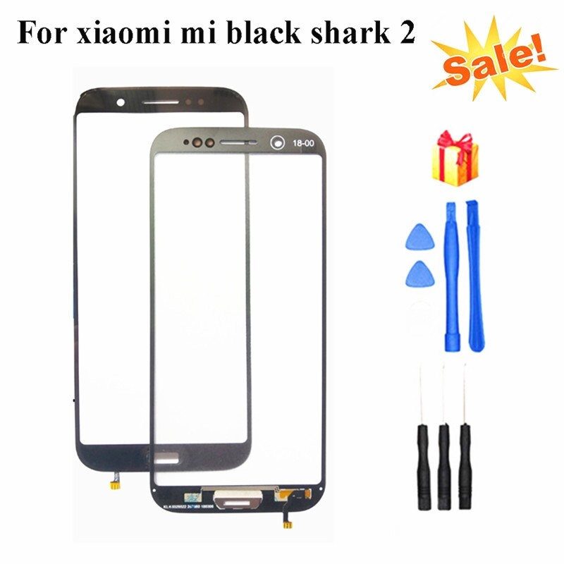 For Xiaomi Mi Black Shark 2 HELO Front Outer Screen Glass Panel Replacement+Tool