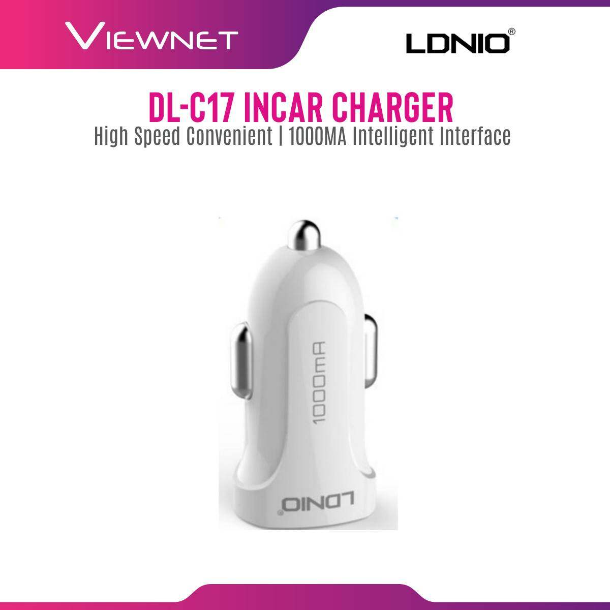 LDNIO In-Car 1-USB 1A Charger With Micro USB Cable (DL-C17)