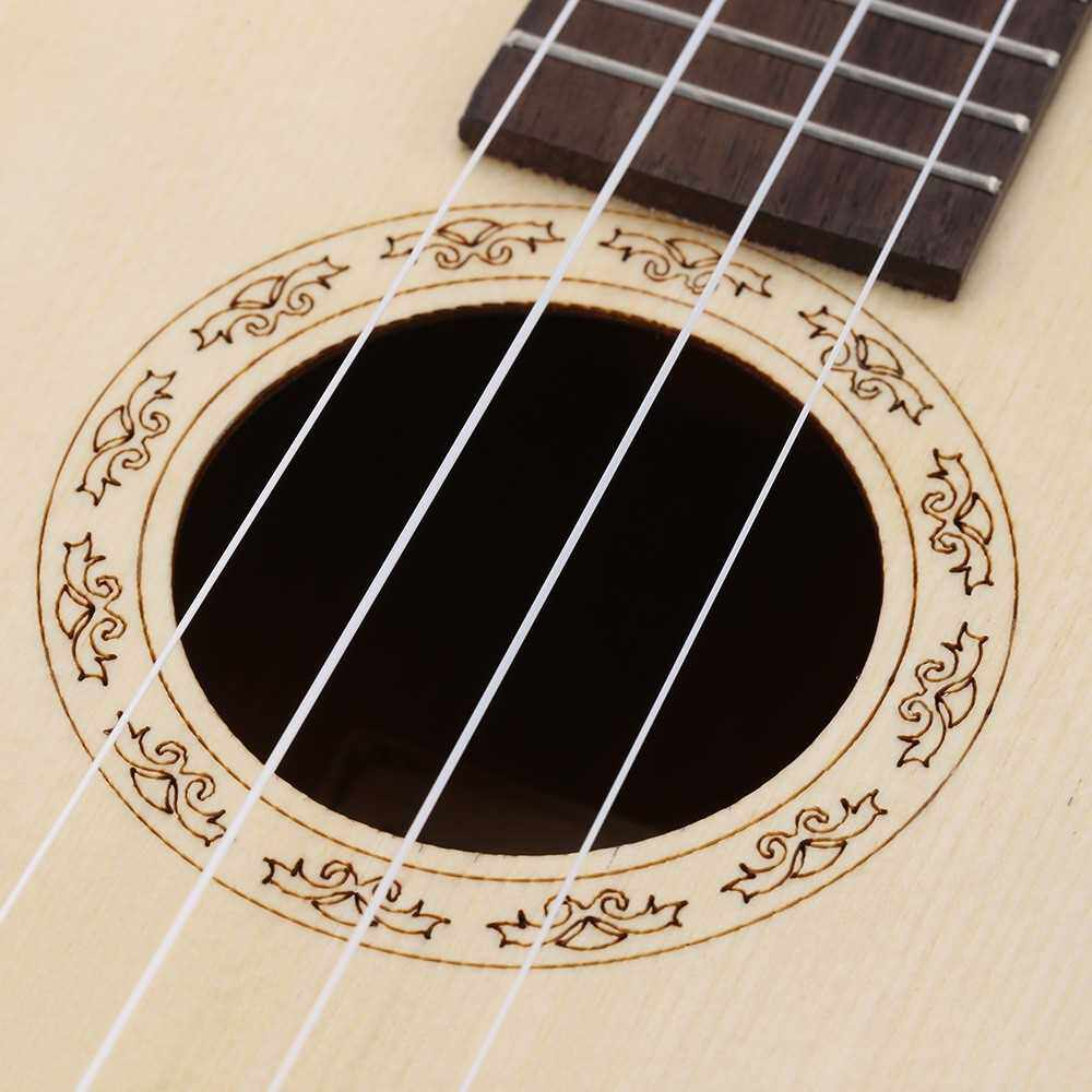 """ammoon 24"""" Spruce Sapele Ukulele Rosewood Fretboard 4 Strings Musical Instrument New Year's Day Gift Present (White)"""