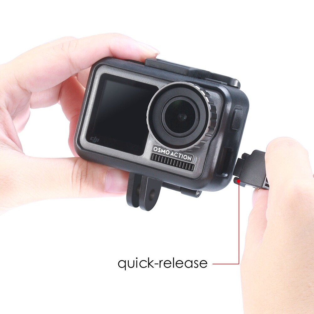 Sports & Action Cameras - Ulanzi OSMO Action Vlog Cage Part Expansion Microphone Mount Clip Clamp for DJI Osmo Action FPV - Drones